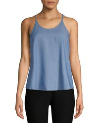 AG Jeans Ag Adriano Goldschmied Classic Tank Top - Blue
