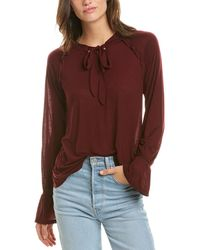 Three Dots Flowy Blouse - Red