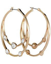 Swarovski Crystal Rose Gold Plated Earrings - Metallic