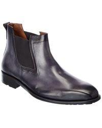 Mezlan Leather Boot - Gray