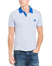 Original Penguin Terry Open Placket Polo Shirt - Blue