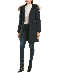Sam Edelman 3/4 Hooded Parka - Blue