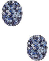Effy - Sterling Silver Sapphire Stud Earrings - Lyst