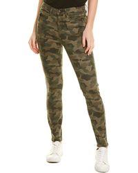 Nicole Miller Soho Camo Green Skinny Jean