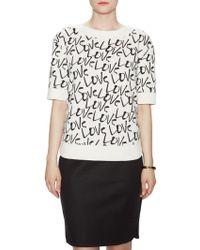 Kate Spade Love Pullover Sweatshirt - Black