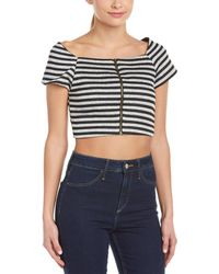 Sugarlips Catch Me If You Can Crop Top - Gray