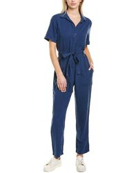 Bella Dahl Button Front Jumpsuit - Blue
