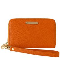 Gigi New York - Leather Wristlet Phone Wallet - Lyst