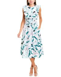 Tory Burch Smocked Printed Dress - Multicolor