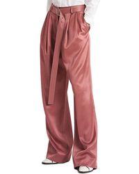 Sies Marjan Blanche Wool-blend Wide Leg Pant - Red