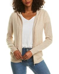 PLY KNITS Zip Cashmere Hoodie - Natural