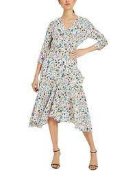 MILLY Birdie Silk Dress - Multicolour