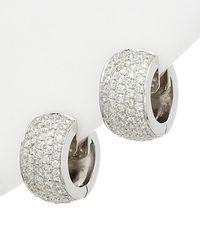 Diana M. Jewels . Fine Jewelry 18k 3.55 Ct. Tw. Diamond Earrings - Multicolor