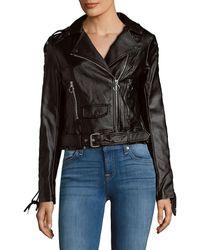 Saks Fifth Avenue Asymmetric Zip Jacket - Black