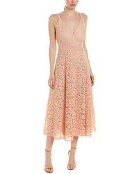 Bardot Genoveve Lace Midi Dress - Pink