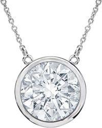 Diana M. Jewels . Fine Jewellery 18k 1.35 Ct. Tw. Diamond Necklace - Metallic