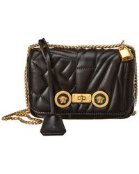 206710520b Versace - Icon Small Quilted Leather Shoulder Bag - Lyst