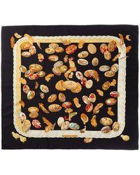 "Hermès ""couvee D',"" By Caty Latham Silk Scarf - Black"