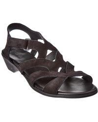 Arche Obela Suede Sandal - Black