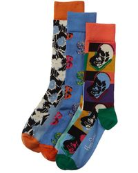 Happy Socks Andy Warhol Socks Gift Box - Blue