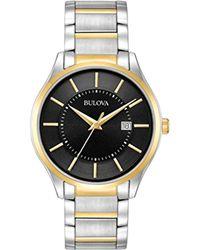 Bulova Men's Stainless Steel Bracelet Watch - Metallic