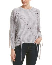 Etienne Marcel Lace-up Sweater - Gray