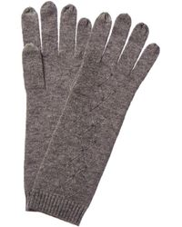 Forte Rhinestone Gloves - Gray