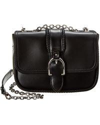 Longchamp Amazone Xs Leather Shoulder Bag - Black