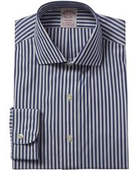 Brooks Brothers 1818 Madison Fit Dress Shirt - Blue
