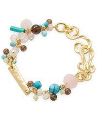 Stephanie Kantis - 18k Gold-plated Glass Bead Bracelet - Lyst