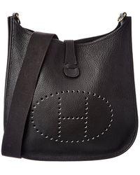 Hermès Black Taurillon Leather Evelyne Ii Pm