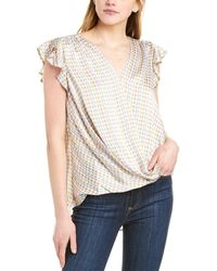 Vince Camuto Geo Petal Top - White