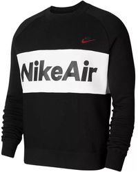 Nike Sportswear Air Crewneck Sweatshirt - Black