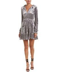 Romeo and Juliet Couture Keyhole Sheath Dress - Gray