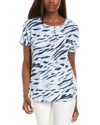 Donna Karan Tucked T-shirt - Blue