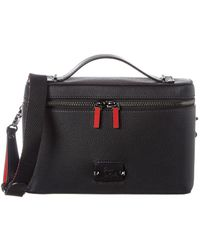 Christian Louboutin Kypiouch Leather Pouch Bag - Black