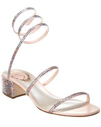 Rene Caovilla Cleo 40 Satin Sandal - Pink