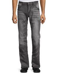 Affliction Cooper Straight Leg Jeans - Multicolor