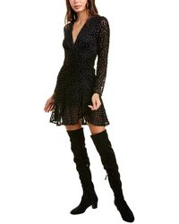 The Kooples Dotted Mini Dress - Black