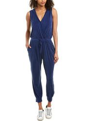 Young Fabulous & Broke Hooded Jumpsuit - Blue