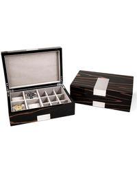 Bey-berk Lacquered Ebony Wood Watch Box - Multicolour