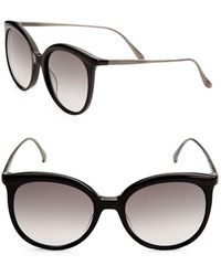 Bottega Veneta | 53mm Oversized Round Sunglasses | Lyst