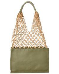Steven Alan William Leather Bucket Bag - Green