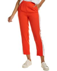 Habitual Ria Ankle Trouser - Red