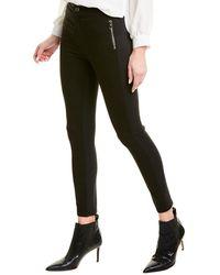 J Brand Alana Black High-rise Skinny Crop
