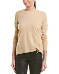 Vince Cinched Cashmere Top - Yellow