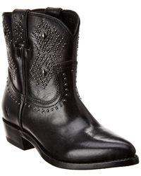 Frye Billy Stud Short Western Boot - Black