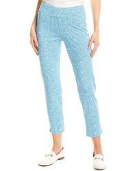 J.McLaughlin Newport Catalina Cloth Capri - Blue