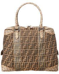 Fendi - Limited Edition Brown Zucca Canvas Shoulder Bag - Lyst