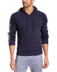Jared Lang Reflective Tape Knit Hoodie - Blue